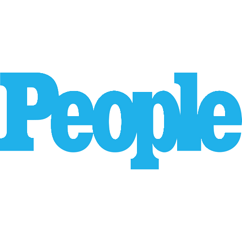 """The logo for People magazine which is """"People"""" in bold blue lettering"""