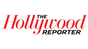 """Black and red text that reads """"The Hollywood Reporter"""""""