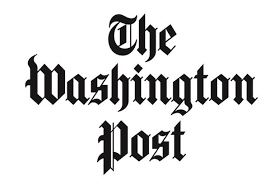 """Logo with black text that reads """"The Washington Post"""""""